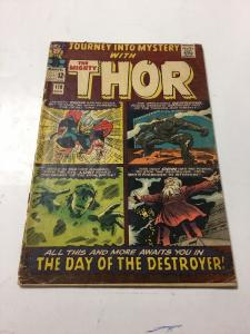 Journey Into Mystery With Thor 119 Gd Good 2.0 Cover Detached Bottom Staple