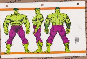Official Handbook of the Marvel Universe Sheet- Hulk