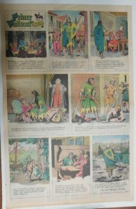 Prince Valiant Sunday #1673 by Hal Foster from 3/2/1969 Rare Full Page Size !