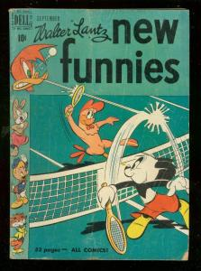 WALTER LANTZ NEW FUNNIES #163 1950-TENNIS COVER--FUN VG