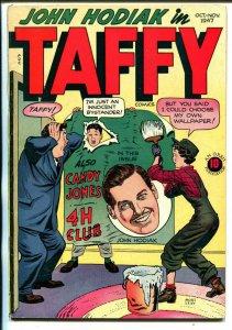 Taffy #10 1947-Orbit-John Hodiak-Spicy Good Girl art-rare-VF