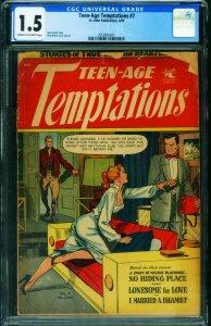 Teen-Age Temptations #7 CGC 1.5 1954- Matt Baker art- Golden Age 2050850001