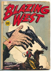 Blazing West #1 1948- Injun Jones- Buffalo Bell- Violent cover G/VG