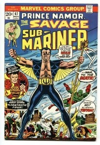 SUB-MARINER #67-comic book-MARVEL 1973 VF-