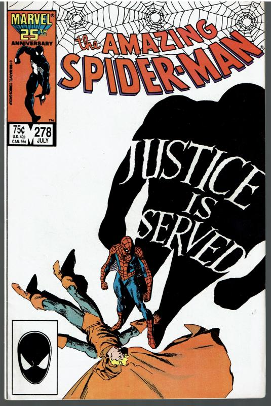 Amazing Spider-man #278, 9.0 or Better