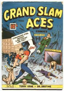 GRAND SLAM THREE ACES #47 1945-RARE CANADIAN-Commander Steel