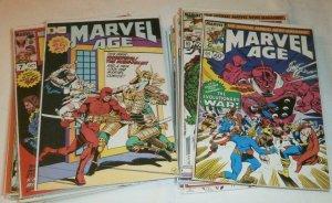 Marvel Age news magazine HUGE comic book lot of 30 Iron Man She-Hulk Byrne