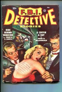 F.B.I. DETECTIVE STORIES-FEB-1949-PULP-SOUTHERN STATES PEDIGREE-vg minus