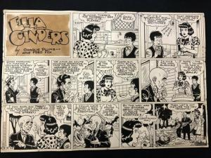 Ella Cinders Original Comic Strip Art March 13 1949- Charlie Plumb-Fred Fox