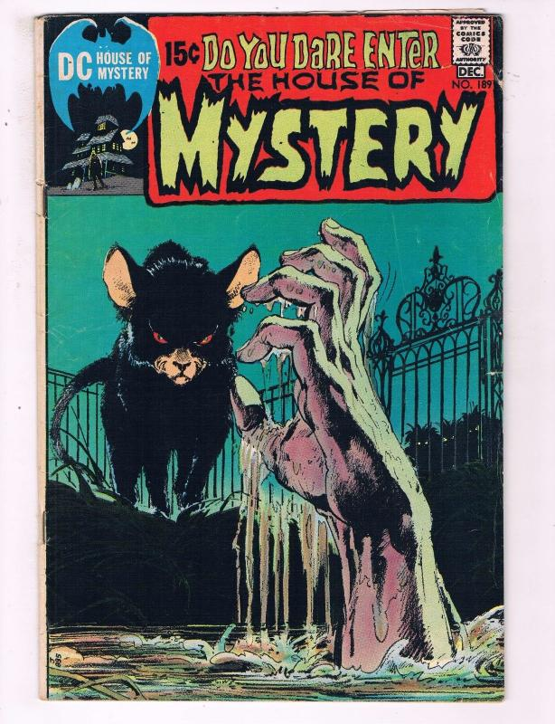 House Of Mystery # 189 FN DC Comic Book Horror 1970 Neal Adams Wally Wood BN6