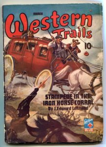 Western Trails Pulp 3/44- Stampede in the Iron Horse Corral