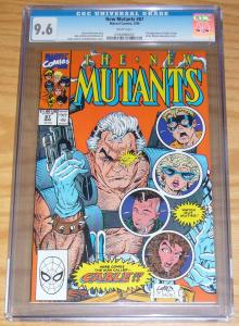 New Mutants #87 CGC 9.6 rob liefeld - 1st appearance of cable - 1st print marvel