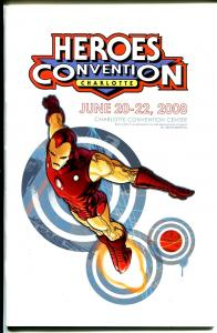 Heroes Convention Program Book 2008-Iron Man-event schedule-VG
