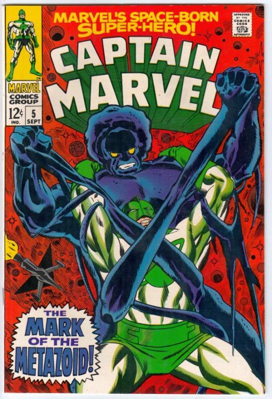 Captain Marvel #5 (Sep-68) NM- High-Grade Captain Marvel