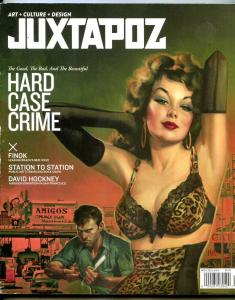 Juxtapoz November 2013- Crime paperbacks- Finok- Davis Hockney