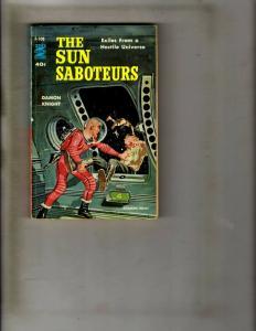 The Sun Saboteurs Pocket Book F-108 Ace Double Novels Damon Knight Sci-Fi JK1