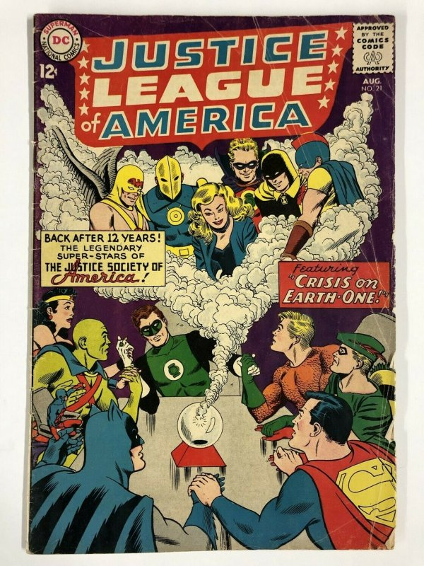 JUSTICE LEAGUE OF AMERICA 21 GOOD August, 1963 COMICS BOOK