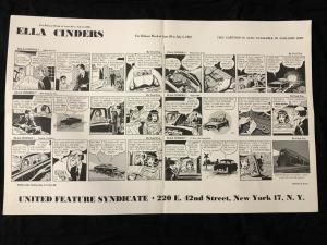 Ella Cinders Newspaper Comic Dailies Proof Sheet 6/30/1952