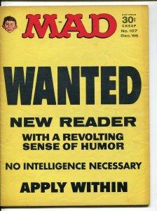 MAD Magazine #107 1966-Ricard-Drucker-Berg- LBJ-VF