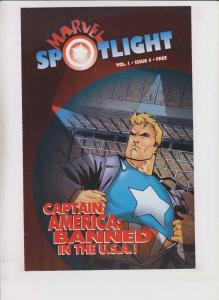 Marvel Spotlight vol. 1 #4 VF/NM captain america cover - rare promo comic 1995