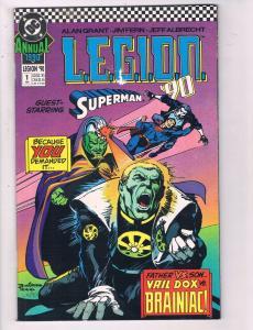 Legion 90 Annual 1990 #1 VF DC Comics Comic Book Superman Brainiac DE13