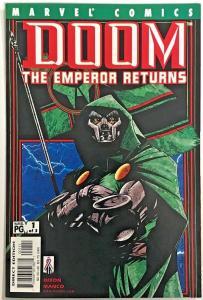 DOOM THE EMPEROR RETURNS#1 VF/NM 2002 MARVEL COMICS