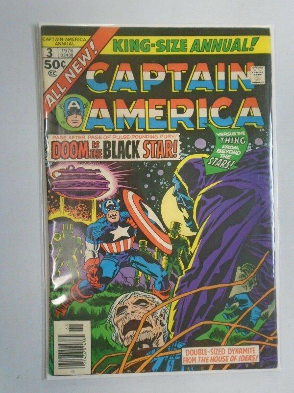 Captain America Annual #3 4.0 VG (1976 1st Series)