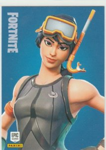 Fortnite Snorkel Ops 197 Rare Outfit Panini 2019 trading card series 1