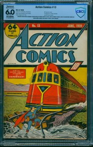 Action Comics #13 CBCS FN 6.0 Off White (Restored) DC Superman