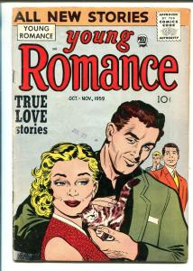 YOUNG ROMANCE VOL 12 #6 1959-PRIZE-JACK KIRBY-RUDE SYMBOLISM-RARE-vg