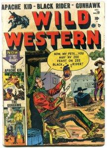 Wild Western #19 1951- Black Rider- Apache Kid- Gunhawk- Golden Age G/VG