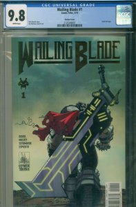 WAILING BLADE #1 CGC 9.8 NM/MINT Variant GOLD FOIL LOGO Comix Tribe May 2019