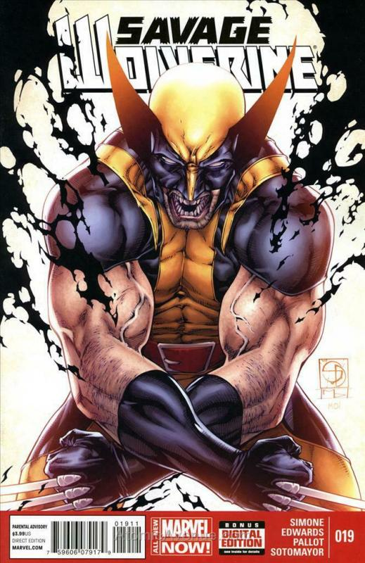 Savage Wolverine #19 VF; Marvel | save on shipping - details inside