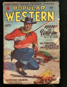 POPULAR WESTERN PULP-1947-FEBRUARY-LOUIS L'AMOUR G