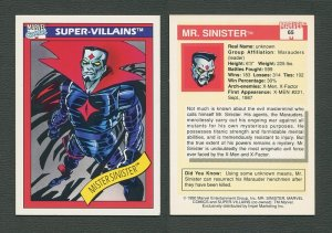 1990 Marvel Comics Card  #65 (Mister Sinister) / NM-MT