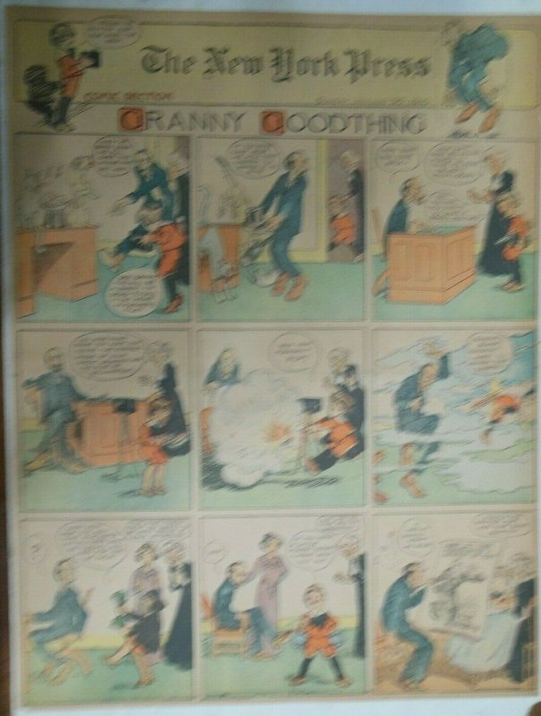 Granny Goodthing Sunday Page by Follett  from 1/30/1910 Full Page Size!