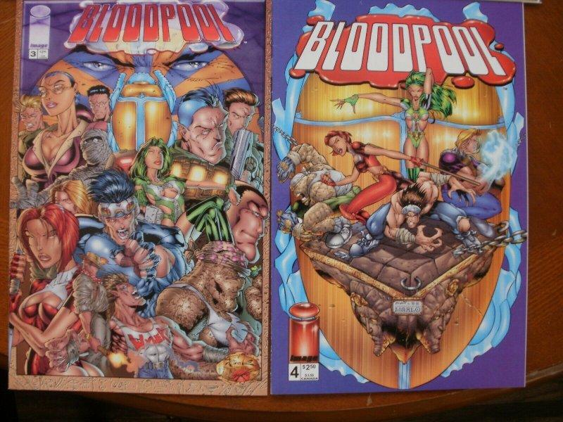4 Image Comics BLOODPOOL Comic #1 #2 #3 #4 (1995) Lee Marlo Mendoza