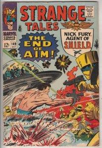 Strange Tales #149 (Oct-66) VF/NM High-Grade Nick Fury, Dr. Strange