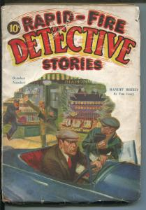 RAPID-FIRE DETECTIVE STORIES #1  10/1932-1ST ISSUE-HARD BOILED PULP-RARE-pr/fr
