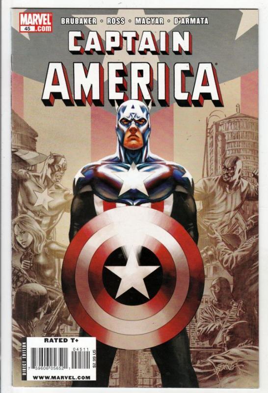 Captain America #45 (Feb-09) NM+ Super-High-Grade Captain America aka Bucky B...