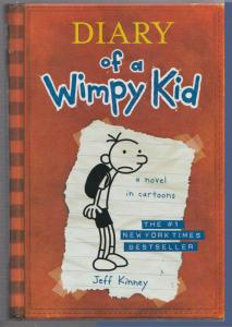 Diary of a Wimpy Kid book 1 a novel in cartoons by Jeff Kinney Hardcover 2007