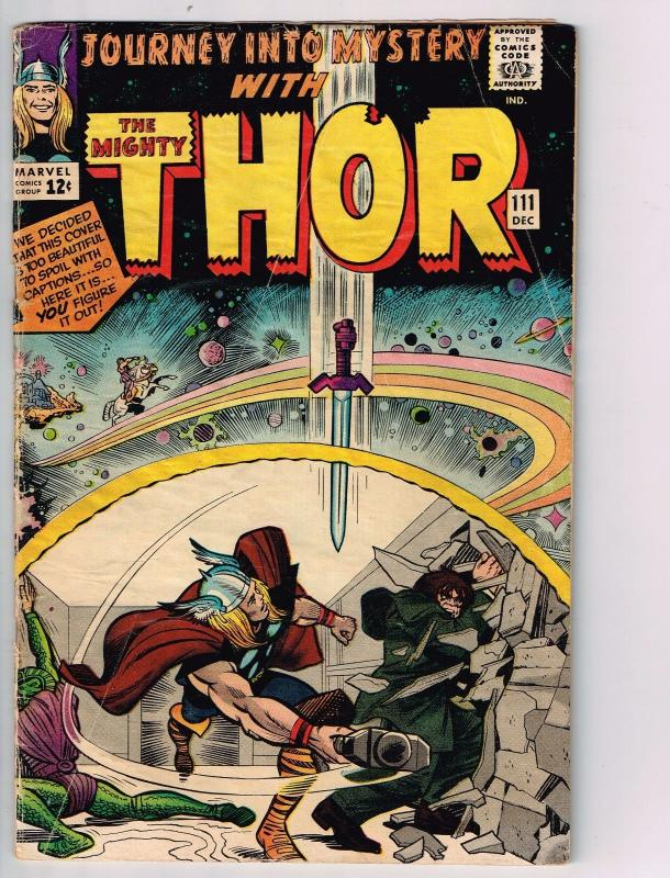 Journey Into Mystery # 111 VG/FN Marvel Comic Book Feat. Thor Loki Odin J37