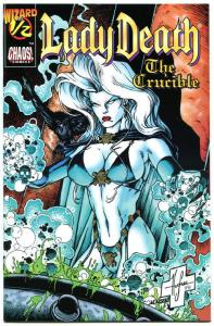 LADY DEATH the CRUCIBLE #1/2, NM-, Wizard Mail away, 1996, Steven Hughes