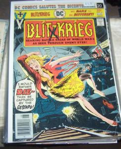 Blitzkrieg # 4(Aug  1976, DC) joe kubert art + war  NAZI GERMANY