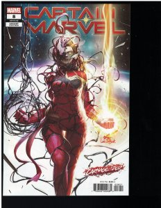 Captain Marvel #8 (Marvel, 2019) NM - Inhyuk Lee Carnage-ized Cover
