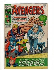 Avengers # 75 VF Marvel Comic Book Hulk Thor Captain America Iron Man OF2