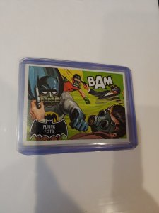 BATMAN black bat/orange back card #44 Topps 1966