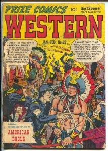 Prize Comics Western #85 1951-1st American Eagle appearance-Elder-Severin-G+