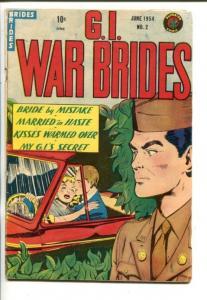 G.I. WAR BRIDES #2-1954-SUPERIOR-SPICY MILITARY ROMANCE-vg