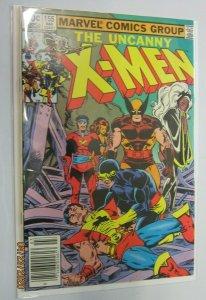 Uncanny X-Men #155 Newsstand 1st Series water damage 5.0 (1982)